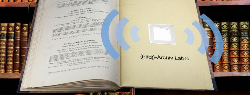 The Archive Label has been developed for reliable application on sensitive books and dosuments.